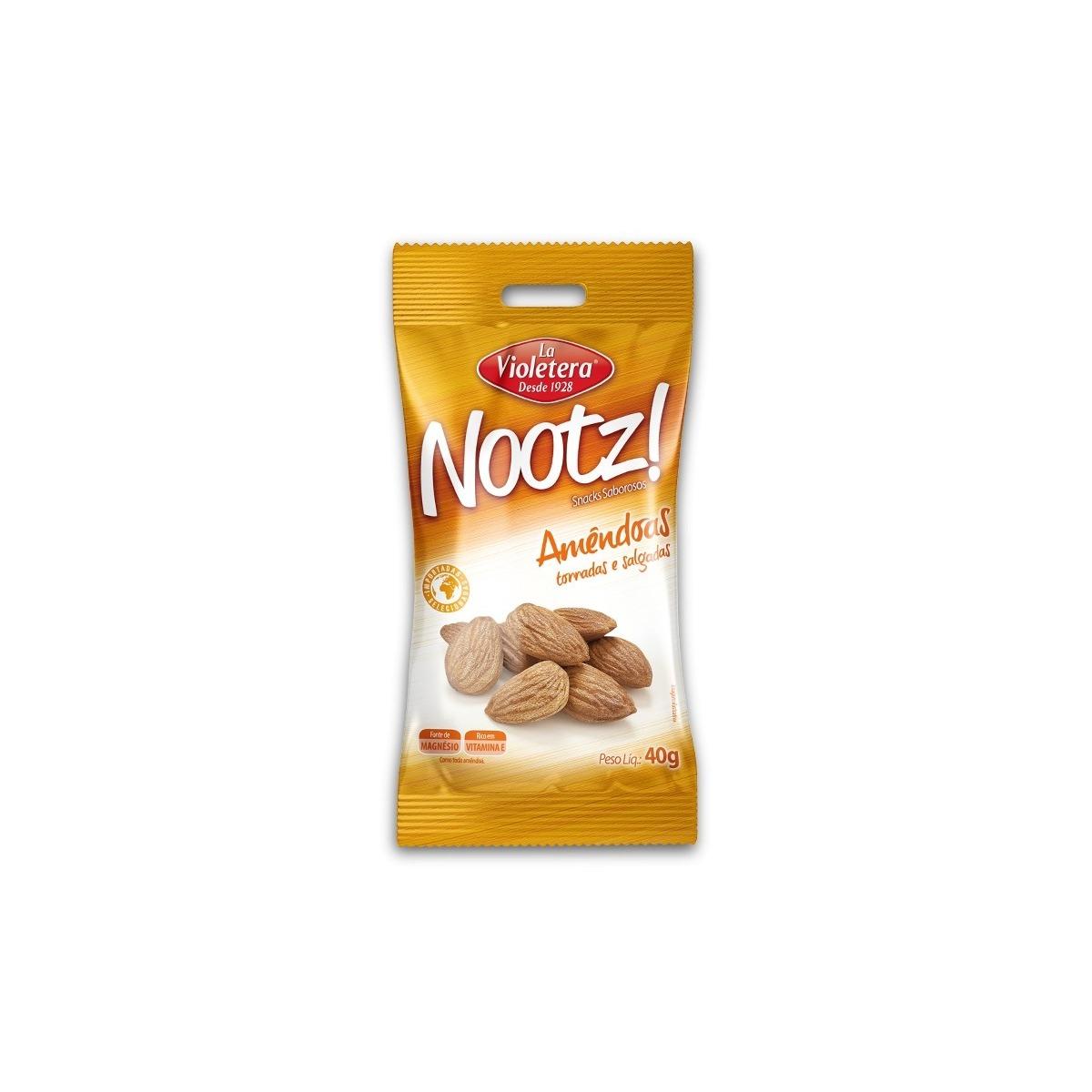 Nootz Amendoa Torrada/Salgada La Violetera Pacote 40G