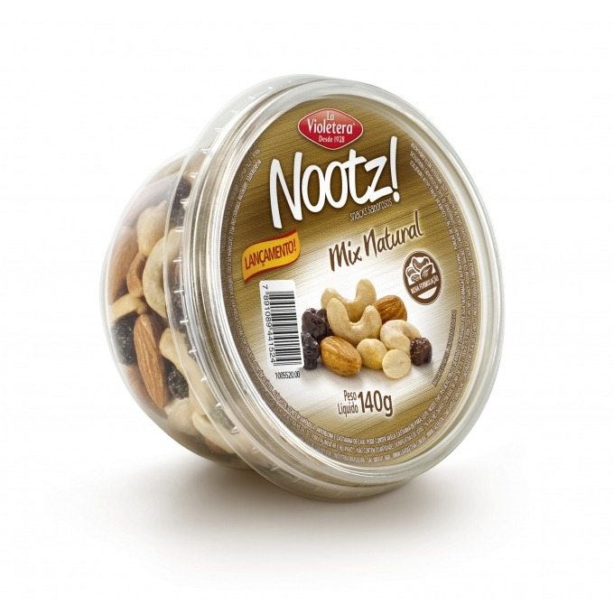 Nootz Mix Natural Pote 140g