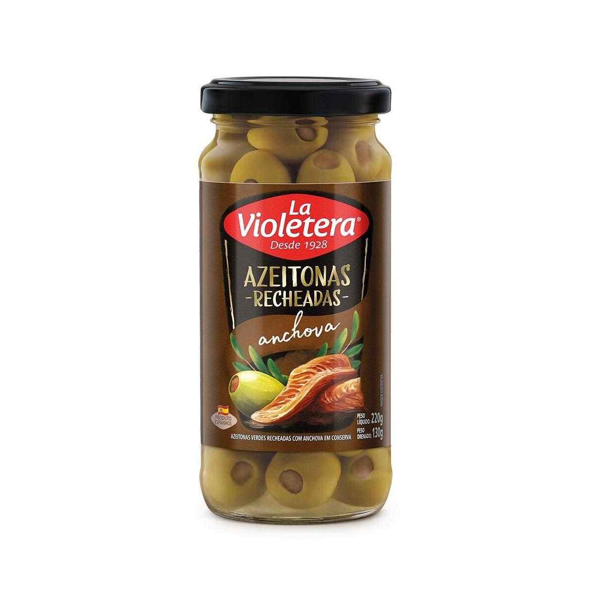 Azeitona Verde Recheada com Pasta de Anchovas 130g