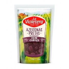 Azeitona Preta C/Caroço La Violetera Refil Doy Pack 100g