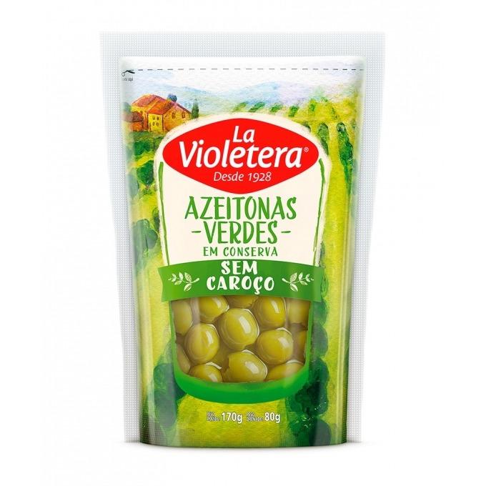 Azeitona Verde S/ Caroço La Violetera Doy Pack 180g