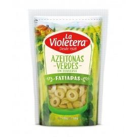 Azeitona verde fatiada refil doy pack La Violetera  80 gr