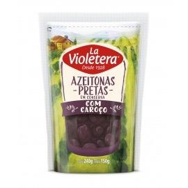 Azeitona Preta Com Caroço La Violetera Refil Doy Pack 150 gr
