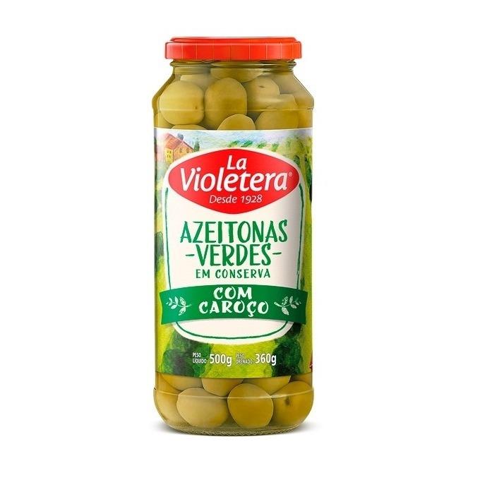 Azeitona Verde com caroço La Violetera 360g