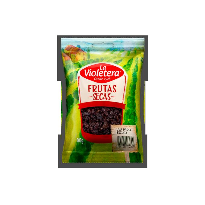 Uva passa escura sem semente 500 gr