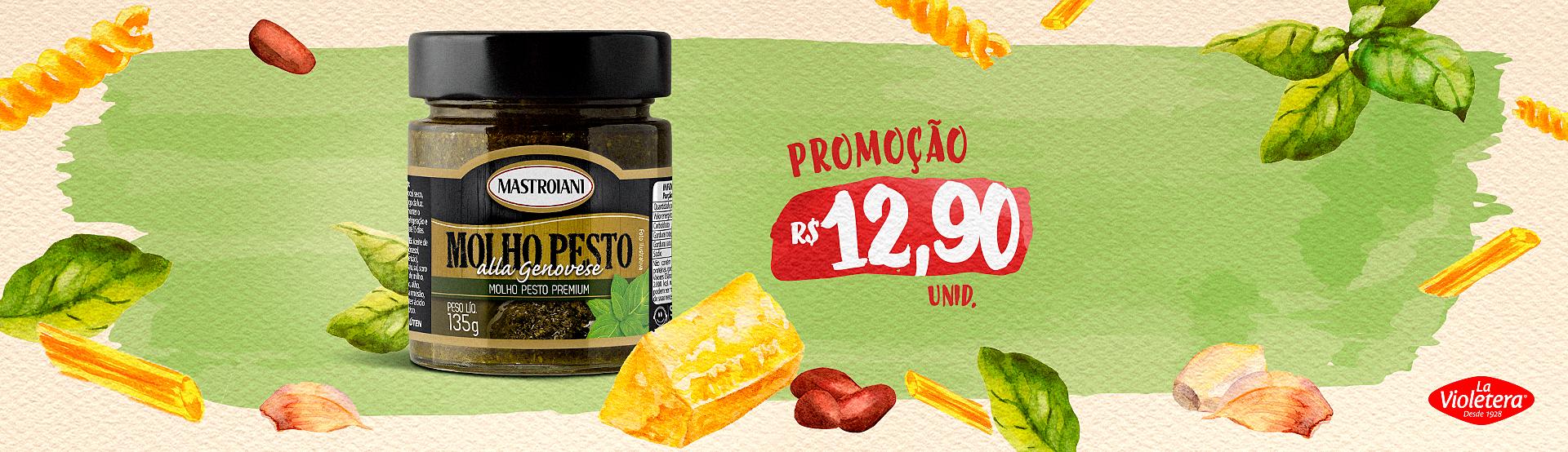 Promoção Molho Pesto Mastroiani - Novo valor